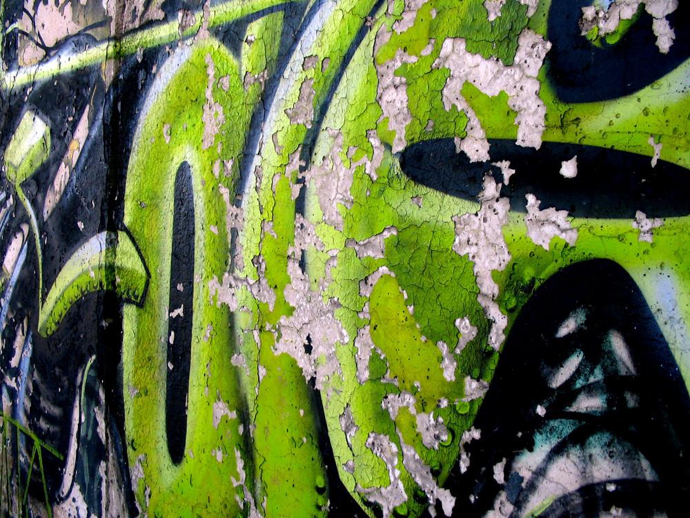Malerei auf einer historischen Mauer