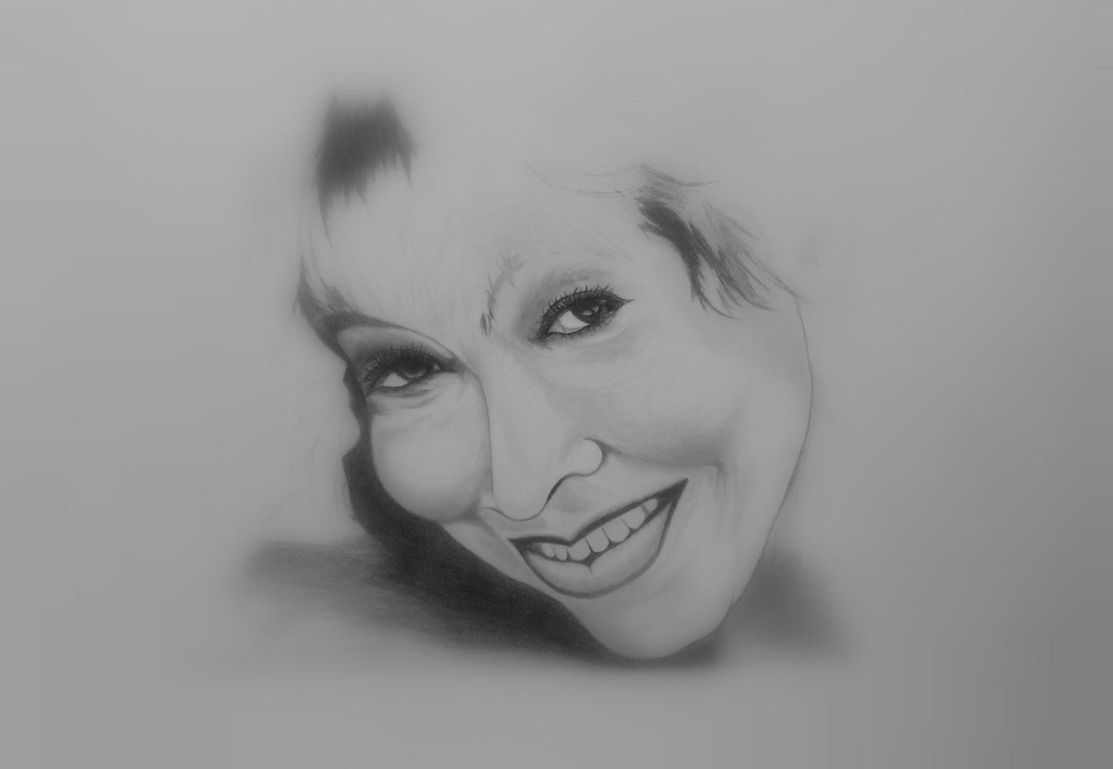 Malerei: Portrait-Zeichnung Titel: hier entsteht ein Bild von TT