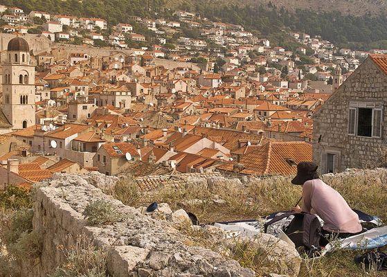 Malerin in Dubrovnik
