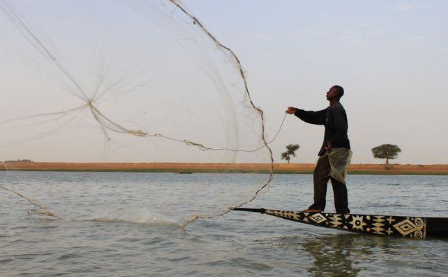 Mali Pêcheur sur le Niger