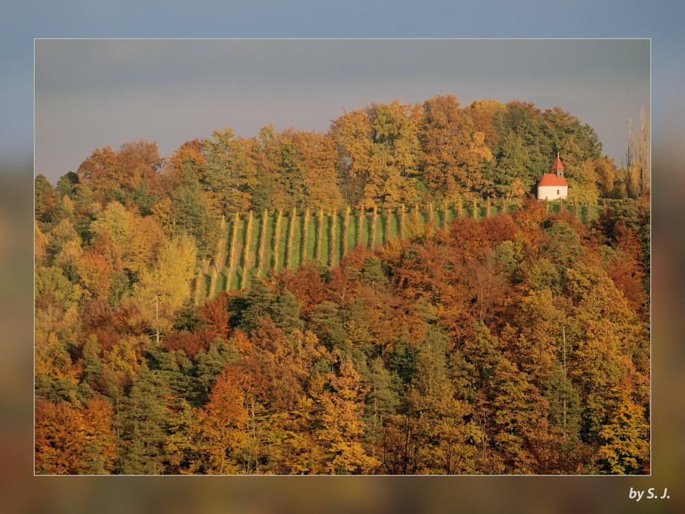 Malkasten im Herbst