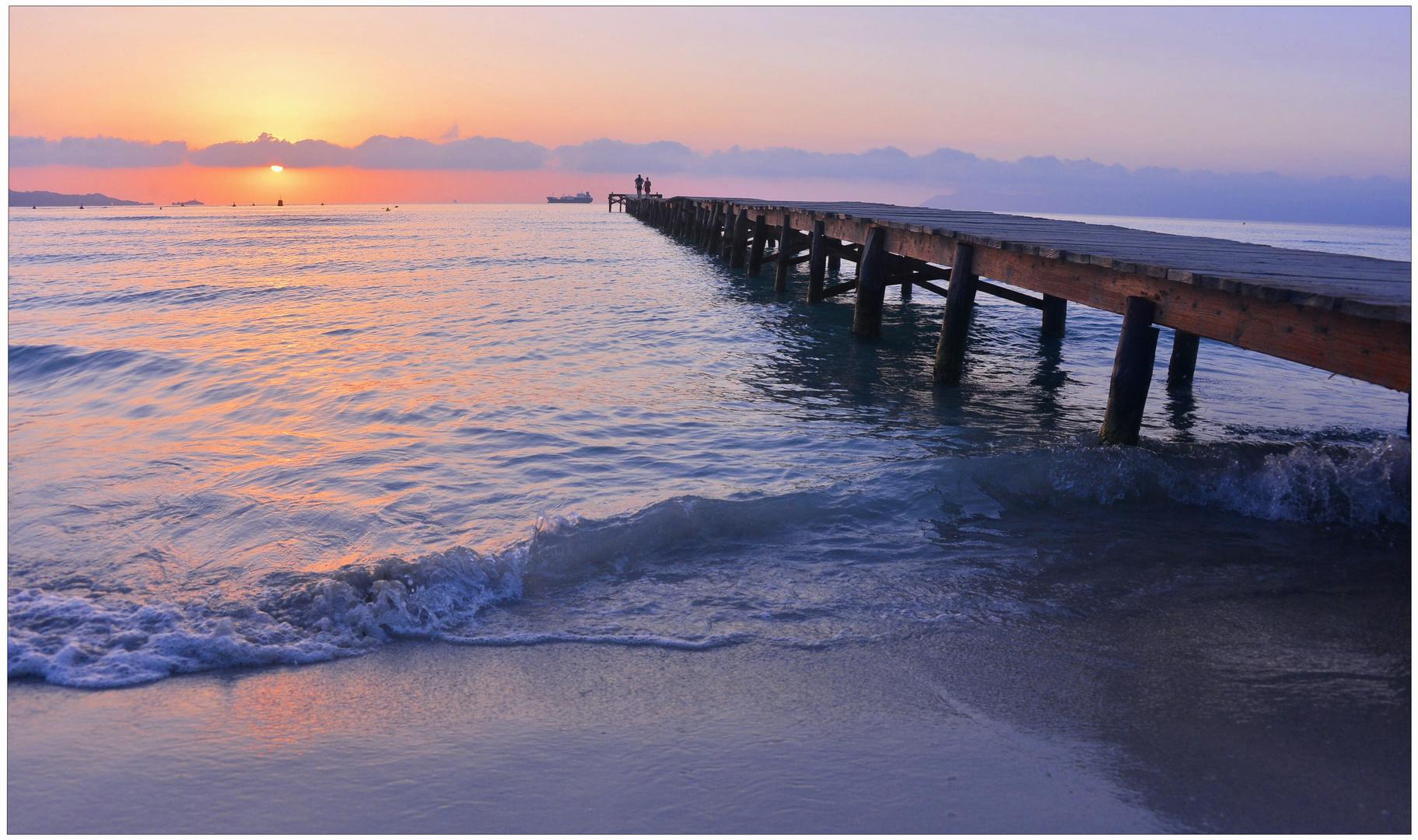 Mallorca 2012, Amanecer en la Playa de Alcúdia