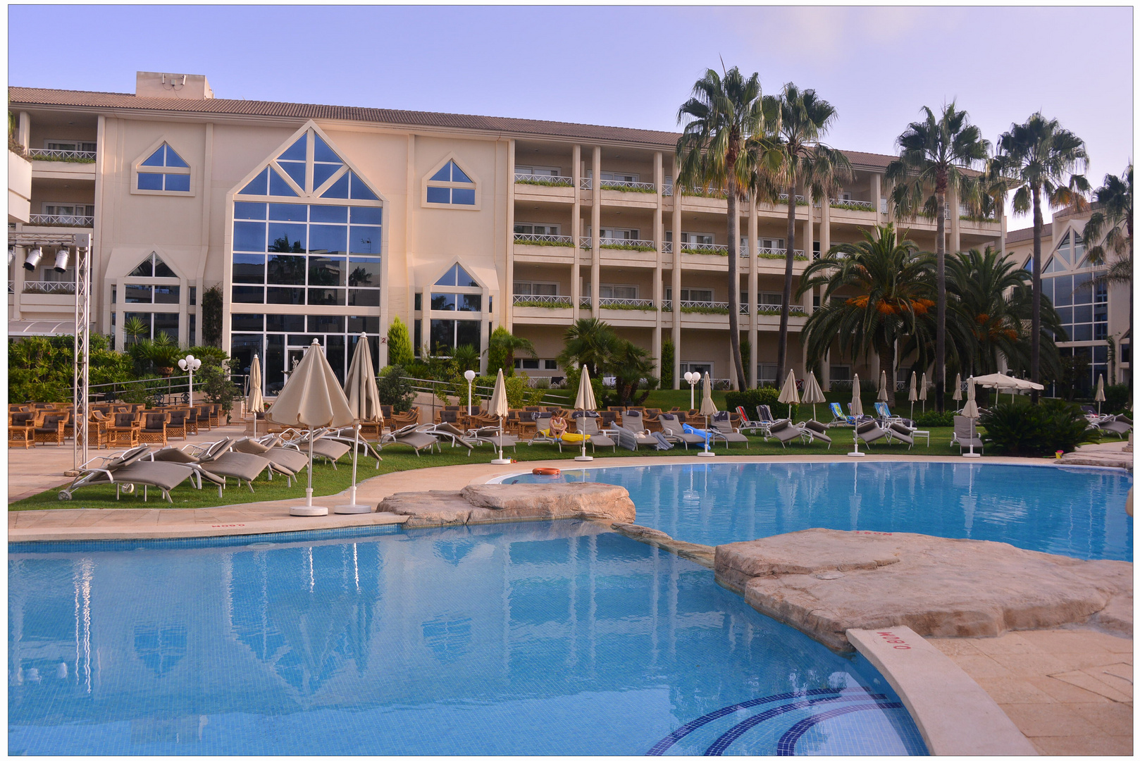 Mallorca 2012, nuestro bonito hotel, el jardín