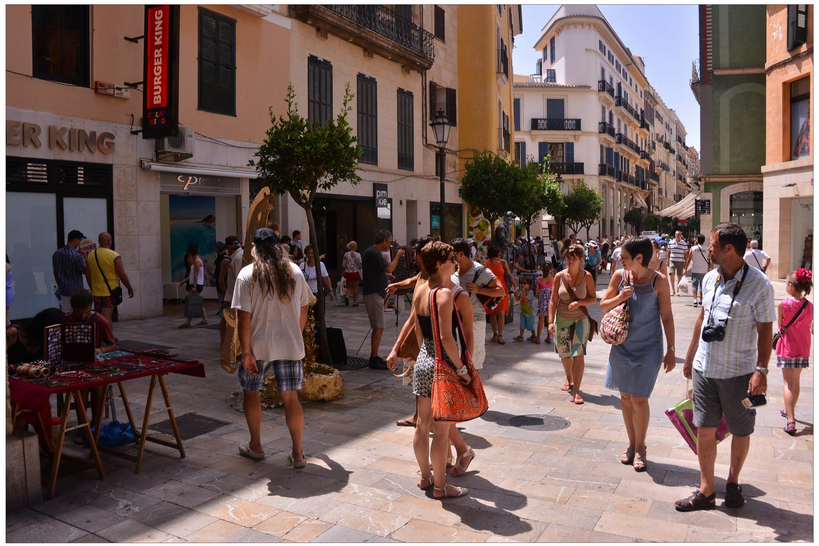 Mallorca 2012, Palma, las calles están muy animadas
