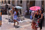 Mallorca 2012, Palma, Plaza major, chicas guapas