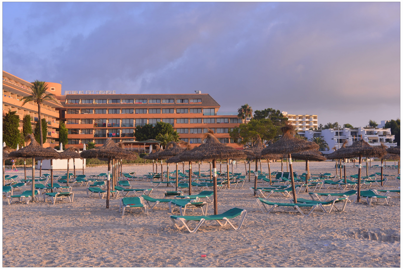 Mallorca 2012, Playa de Alcúdia, por la mañana