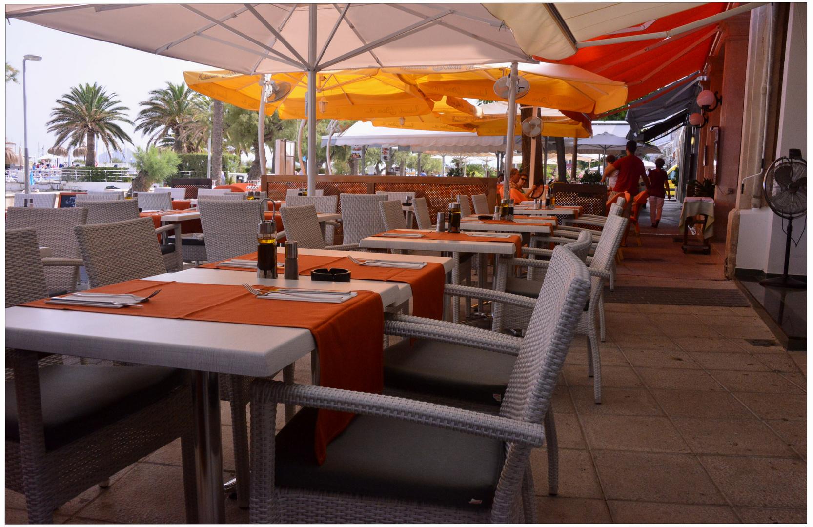 Mallorca 2012, Puerto de Pollenca, esperando a los clientes I