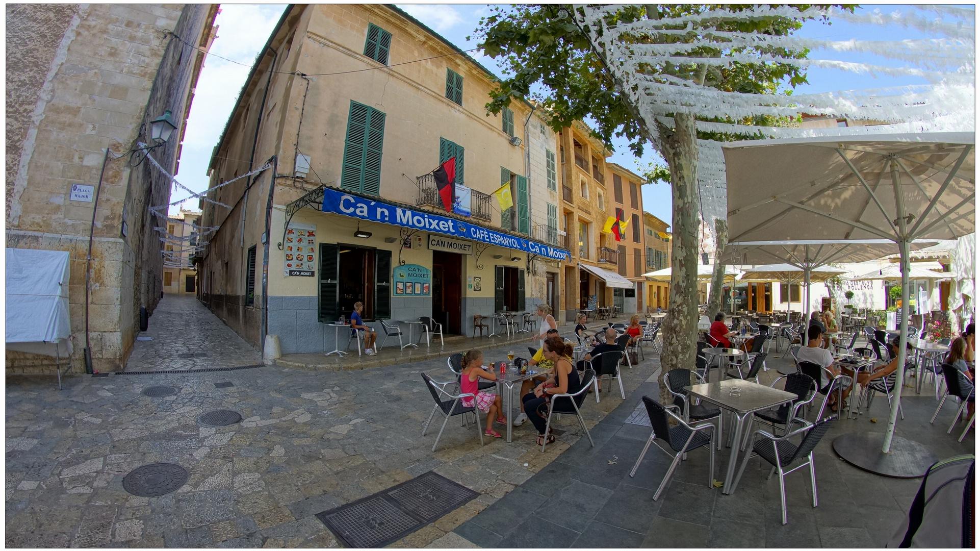 Mallorca 2013, 7, Pollenca, Café espanyol