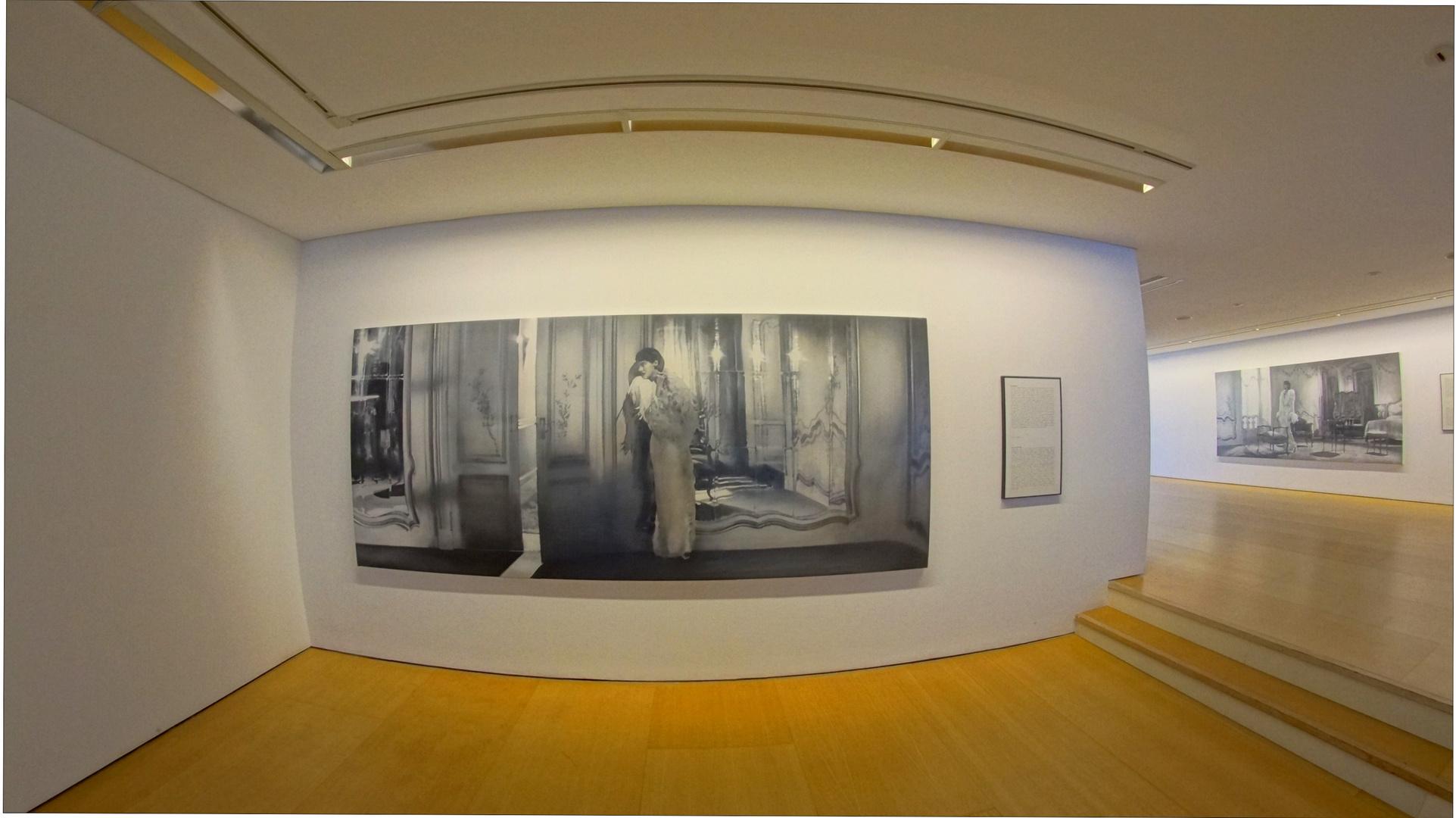Mallorca 2013, 8, Palma, eine Ausstellung mit ganz tollen Gemälden