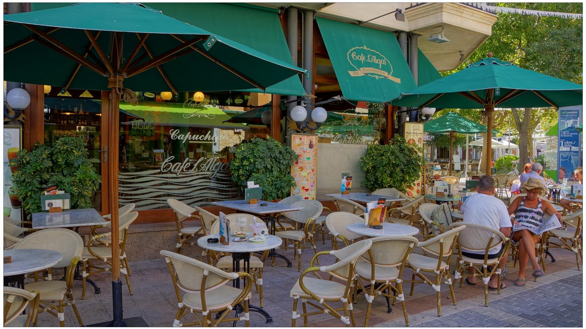 Mallorca 2013, unser Café in Puerto Pollenca (nuestra cafetería en Puerto Pollenca)