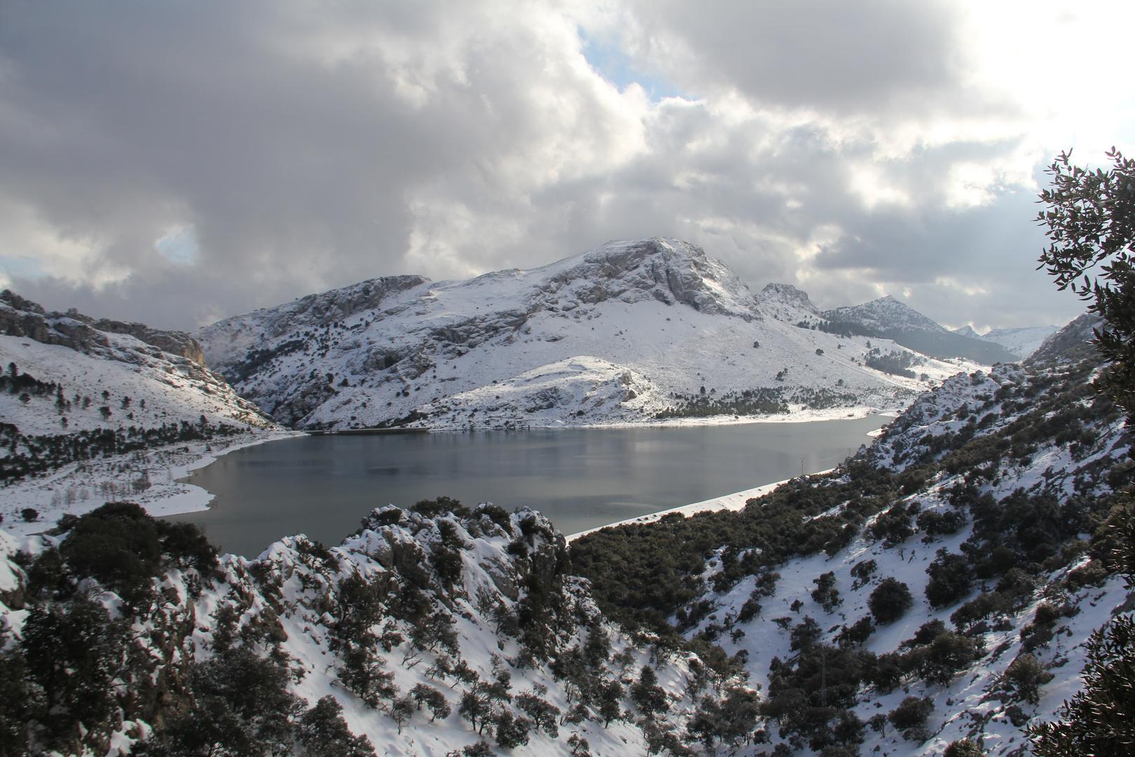 Mallorca bajo nieve.