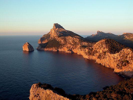 Mallorca, Sonnenuntergang am Cap Formentor