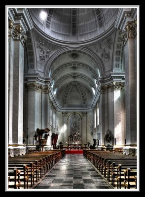 MALMEDY, intérieur de la cathédrale