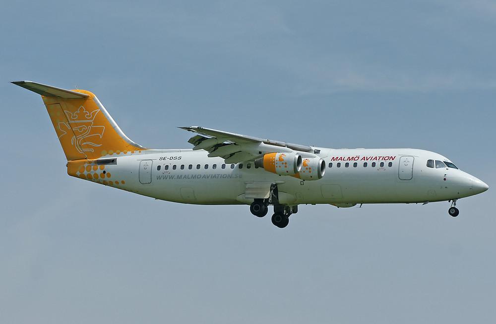 Malmö Aviation Avro Regional Jet RJ100