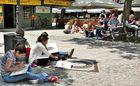 Malstunde auf dem Viktualienmart München