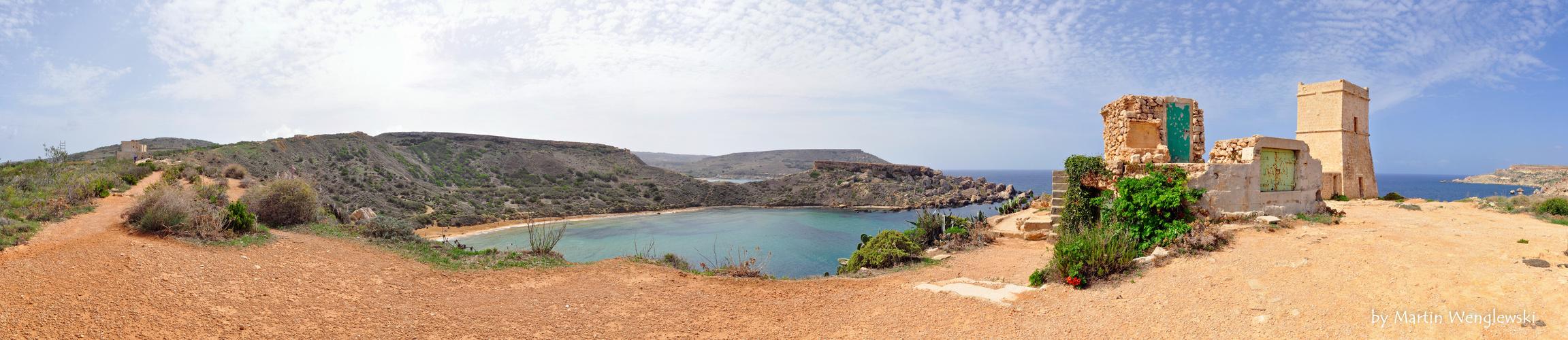 Malta - Ghajn Tuffieha Bay - Panorama