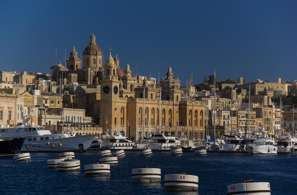 Malta mit Blick auf Vittoriosa und Grand Harbour