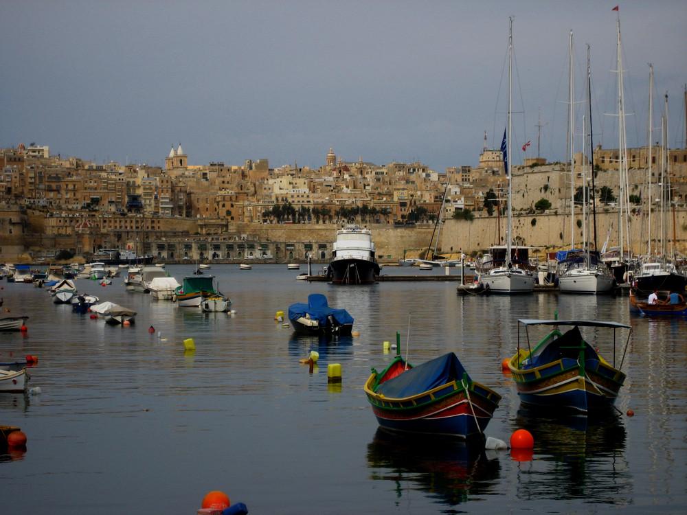 Malta: Three Cities - Blick auf Valetta