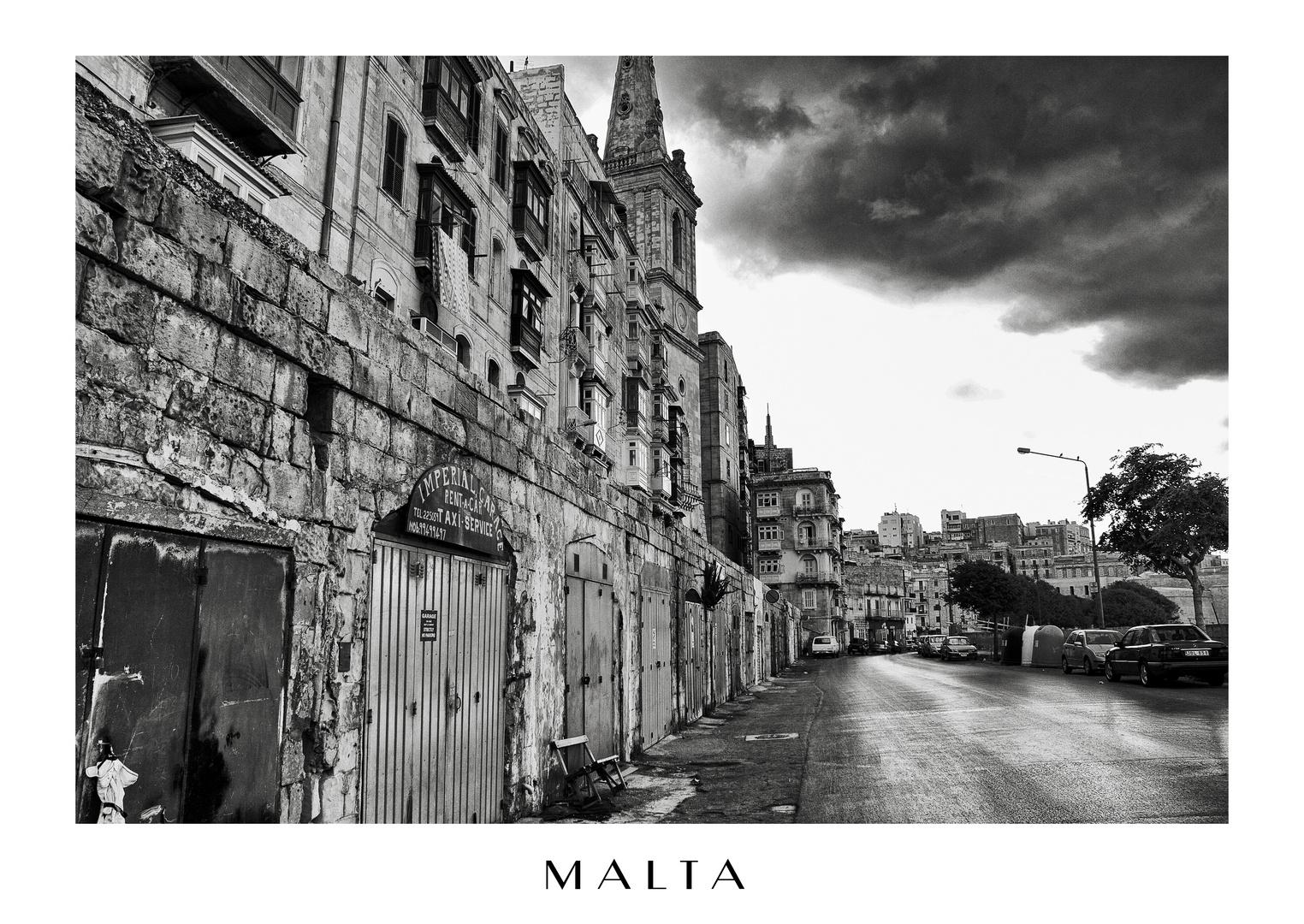 Malta - Wohnhäuser an der Küste