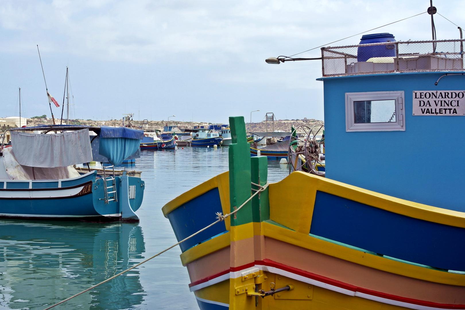 Maltesische Luzzus (Fischerboote)