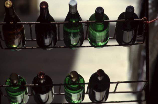 Maltesische Weinflaschen