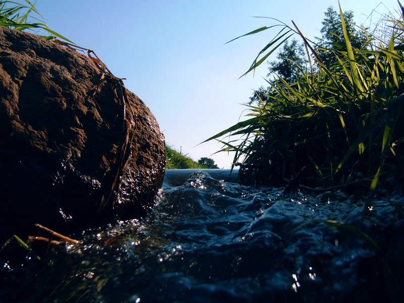 Malxewasser im Sturz