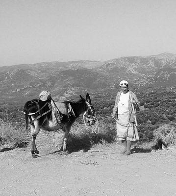 Mamie et son âne