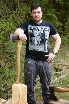 Man against Wood |