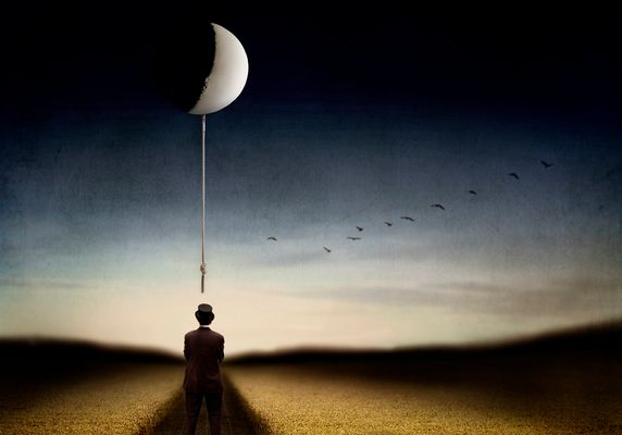 Man and the moon...