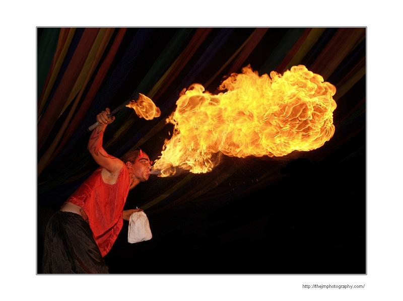 [ man fire ]