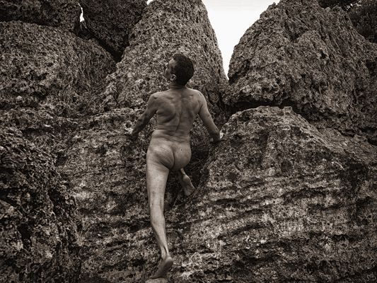 Man on the rock