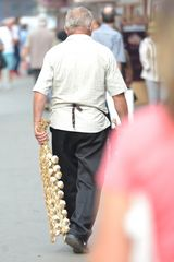 man with garlic