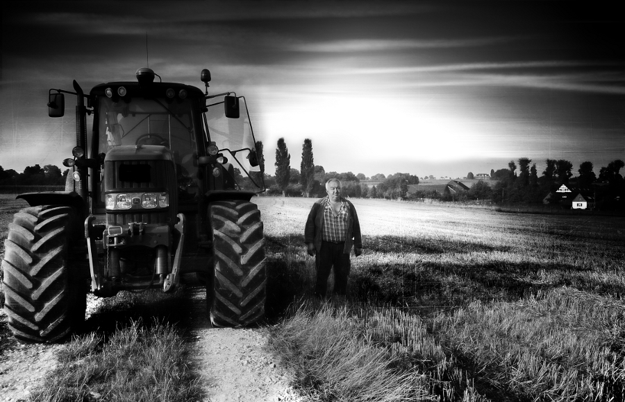 man with the tractor