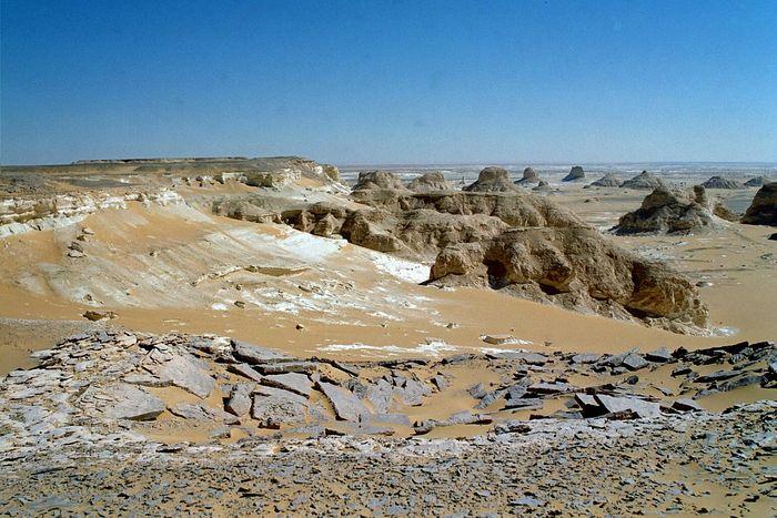 Manchmal ist die Weiße Wüste ein bißchen grauer