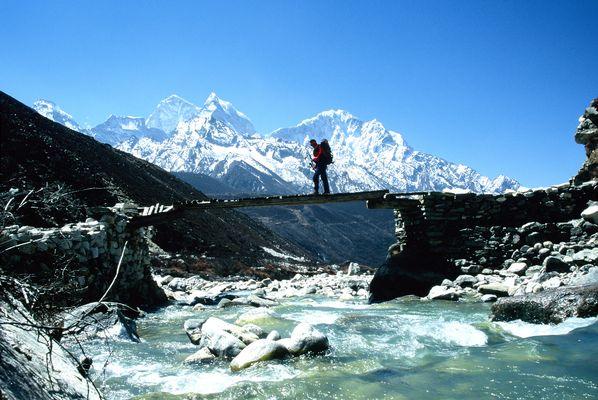 manchmal muß man über eine Brücke gehen