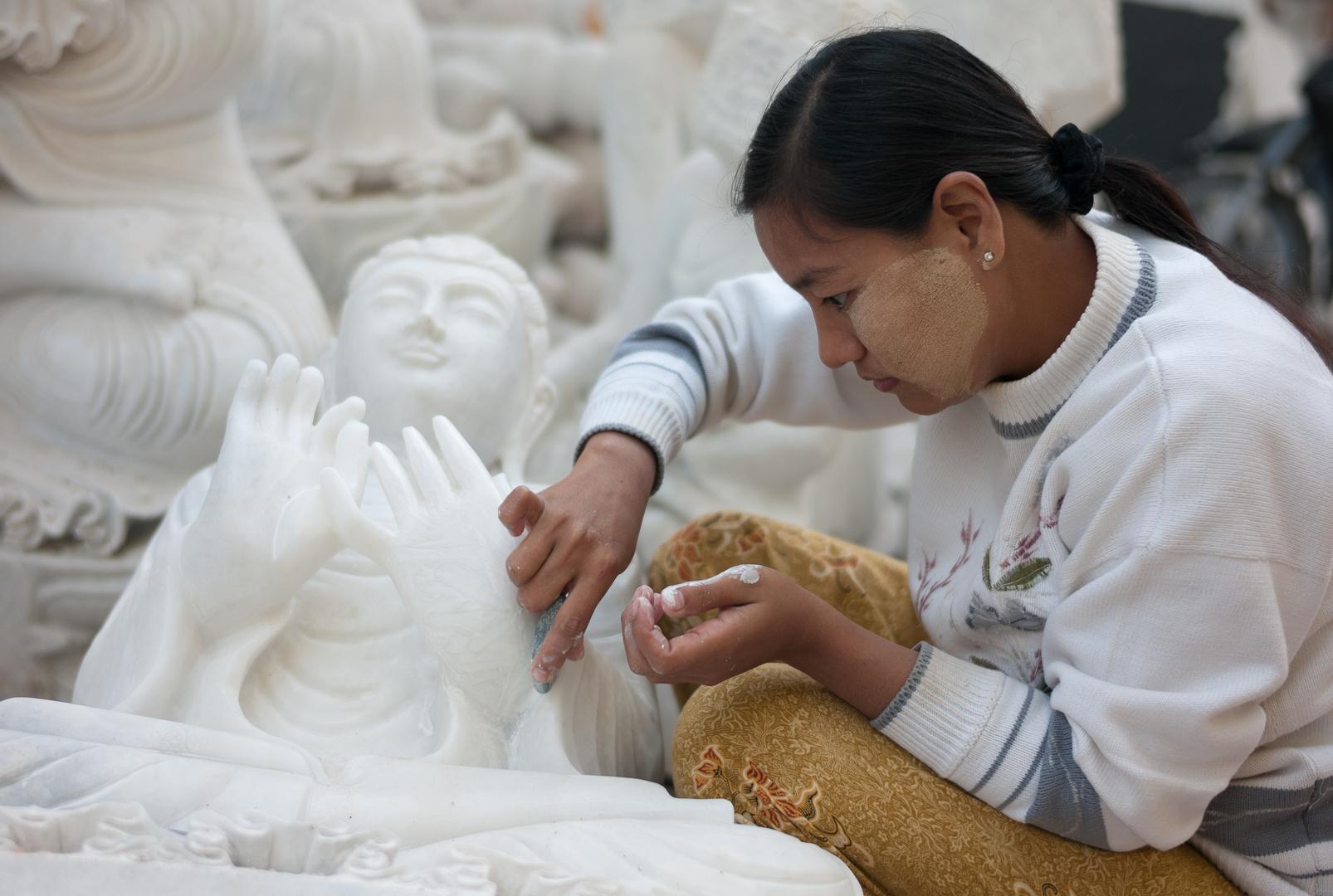 Mandalay, in der Straße der Steinmetze II