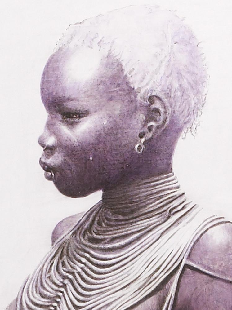 Mandari girl- ethiopia (detail)