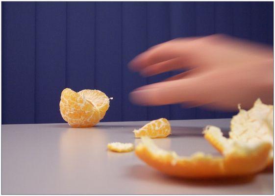 Mandarine auf der Flucht