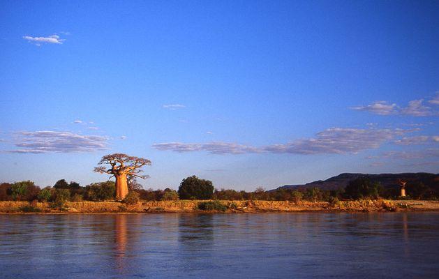 Mangoky River in Madagaskar