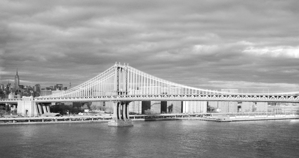 Manhattan Bridge BW