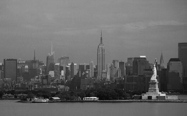 Manhattan Skyline aus ungewöhnlicher Perspektive