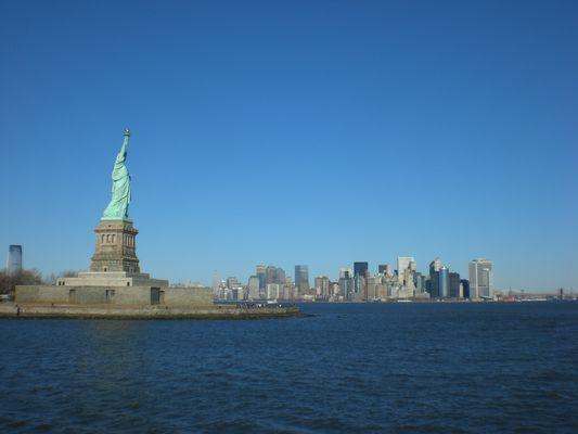Manhattan von der Fähre