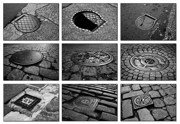 manhole covers - gates to the dark