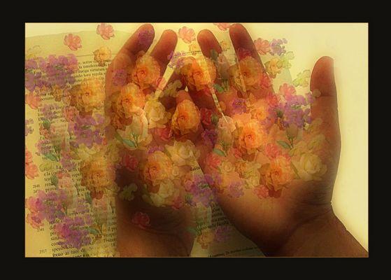 Mani che spargono fiori.......