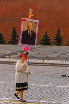 Manifestación en la Plaza Roja - Moscú