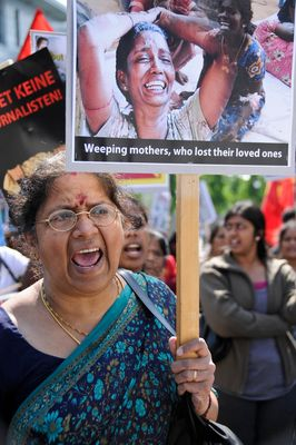 Manifestation tamoule contre la guerre civile au Sri-Lanka
