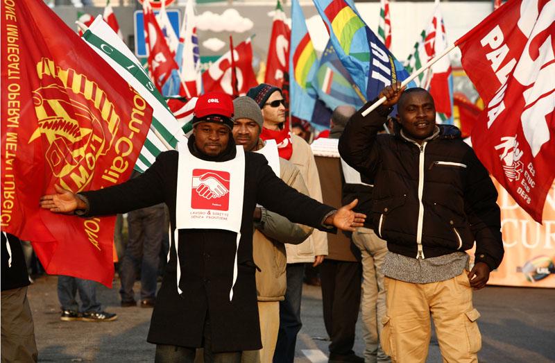 manifestazione di immigrati 3