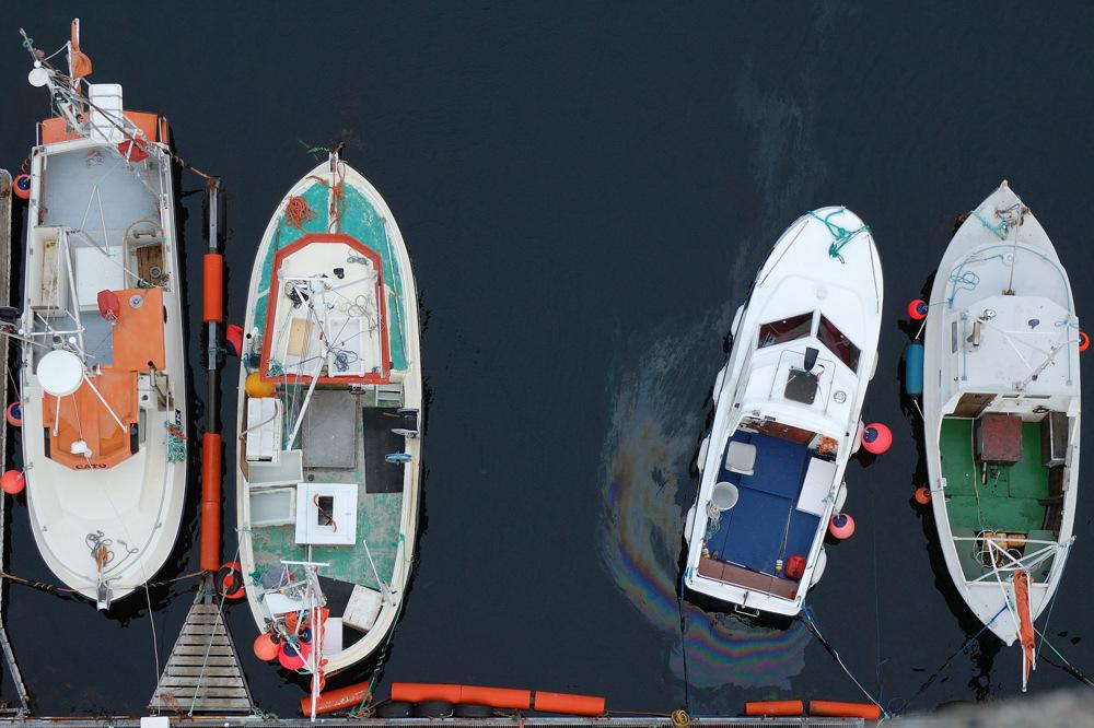 Mann, äh.... Nein, Boote über Bord! ;-)