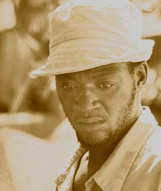 Mann auf Haiti
