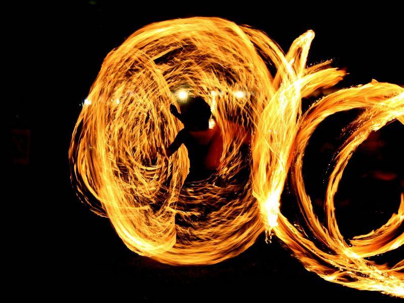 Mann im Feuer
